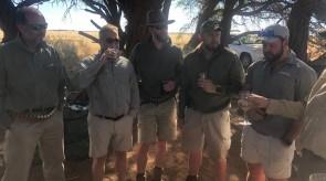 Makgoro Lodge guinea fowl hunt / tarentaal jag